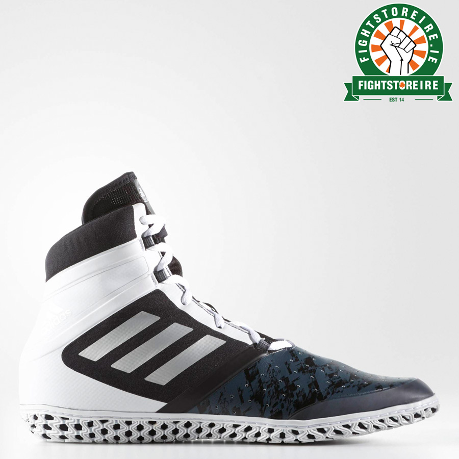 5e97788533b Adidas Flying Impact Wrestling Shoes - Black Silver White - Fight ...