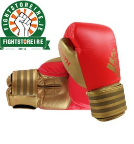 Adidas Hybrid 200 Boxing Gloves - Red/Gold