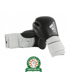 Adidas Hybrid 300 Boxing Gloves - Black/White