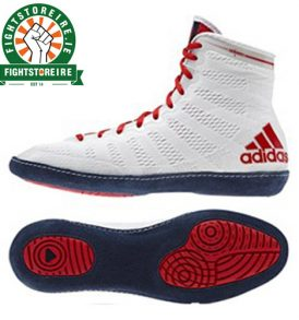 Adidas adiZero XLV Wrestling Shoes - White/Red
