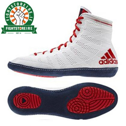 Adidas adiZero XLV Wrestling Shoes - White/Red