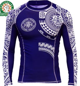 Hardcore Training Ta Moko Rashguard - Blue