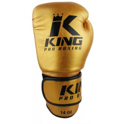 King Muay Thai Leather Gloves - Gold