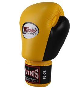 Twins Special BGVL 3 Thai Boxing Gloves - Yellow/Black
