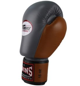 Twins Special BGVL 3 Thai Boxing Gloves - Grey/Retro Brown