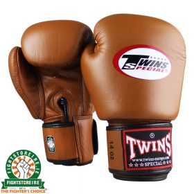 Twins Special BGVL 3 Thai Boxing Gloves - Retro Brown