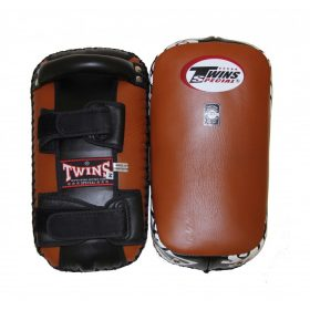 Twins Special Muay Thai Leather Kick Pads - Brown