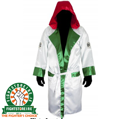 Cleto Reyes Satin Boxing Robe With Hood - Mexican