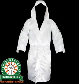 Cleto Reyes Satin Boxing Robe With Hood - White