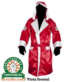 Cleto Reyes Satin Robe With Hood - Red