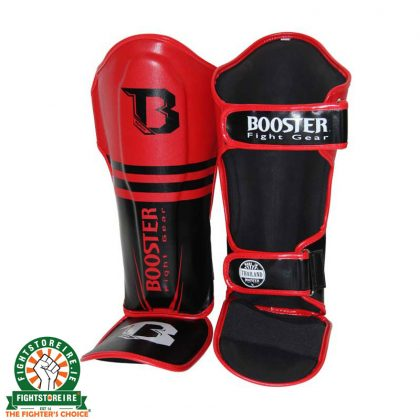 Booster PRO SIAM Thai Boxing Shinguards - Red