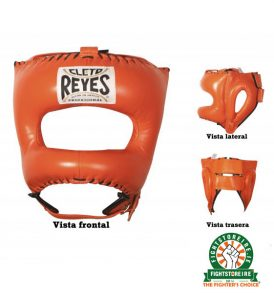 Cleto Reyes Traditional Pointed Nylon Bar Headguard - Tiger Orange