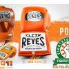 Cleto Reyes Traditional Pointed Nylon Bar Headguard - Tiger Orange