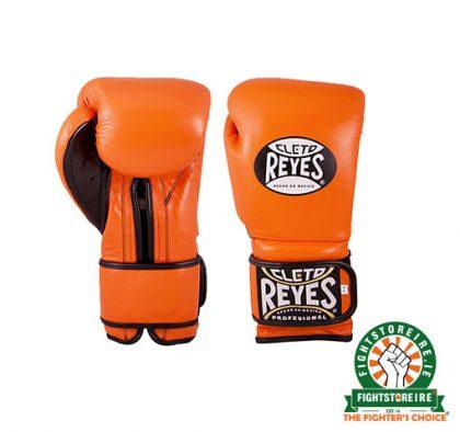 Cleto Reyes Velcro Sparring Gloves 14oz Orange