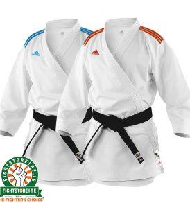 Adidas adi-zero Kumite Karate Uniform - 4.5oz - Blue / Red