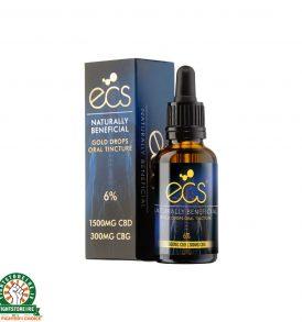 Canavape ECS CBD Gold Drops: Oral Cannabinoid Tincture 3000MG CBD - 600MG CBG