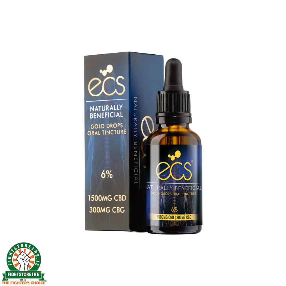 Canavape ECS Gold Drops: Oral Cannabinoid Tincture 1500MG CBD - 300MG CBG