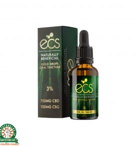 Canavape ECS Gold Drops: Oral Cannabinoid Tincture 750MG CBD - 150MG CBG