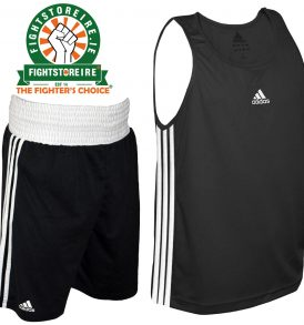 Adidas Base Punch Black Boxing Vest & Shorts Set