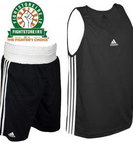 Adidas Base Punch Black Boxing Vest & Shorts Set