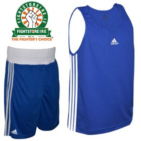 Adidas Base Punch Blue Boxing Vest & Shorts Set