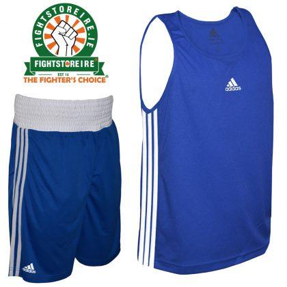 Adidas Base Punch Blue Boxing Vest & Shorts Set