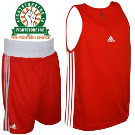 Adidas Base Punch Red Boxing Vest & Shorts Set