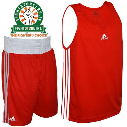 Adidas Base Punch Red Boxing Vest & Shorts Set