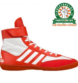 Adidas Combat Speed 5 Wrestling Boots - Red /Silver
