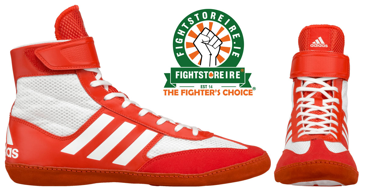 246b37c9f5d Adidas Combat Speed 5 Wrestling Boots - Red  Silver - Fight Store IRE