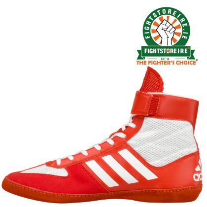 b5f3d6d2c62a7 Adidas Combat Speed 5 Wrestling Boots - Red /Silver - Fight Store IRE