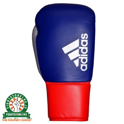 Adidas Hybrid 200 Pro Lace Boxing Gloves - Blue/Red