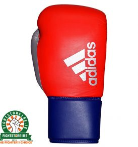 Adidas Hybrid 200 Pro Lace Boxing Gloves - Red/Blue