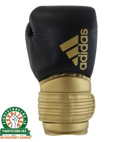 Adidas Hybrid 300X Boxing Gloves - Black/Gold