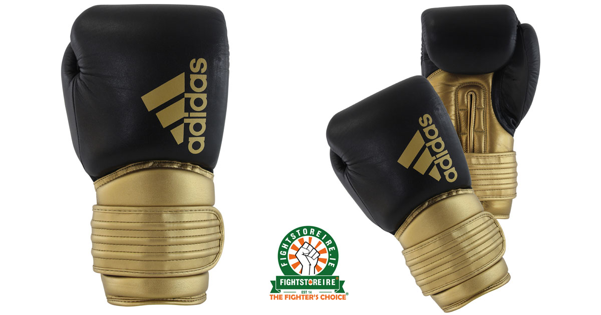 Adidas Hybrid 300 Boxing Gloves Black Gold Fight Store