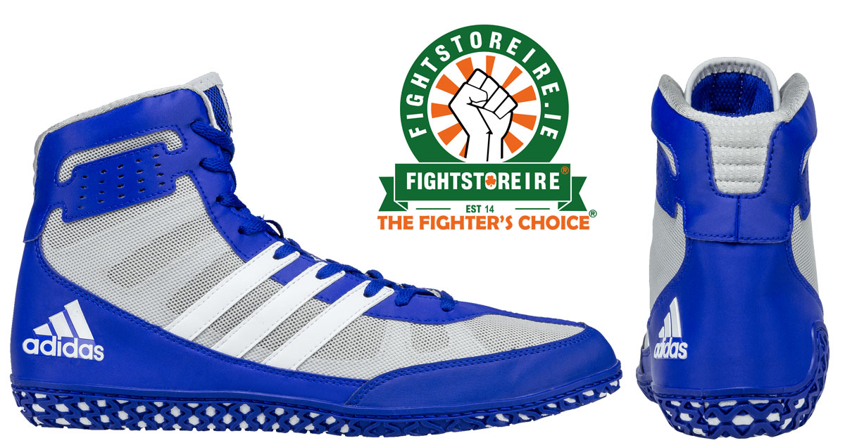 Adidas Mat Wizard 3 Wrestling Boots - Blue White - Fight Store IRELAND 9953ab5aa