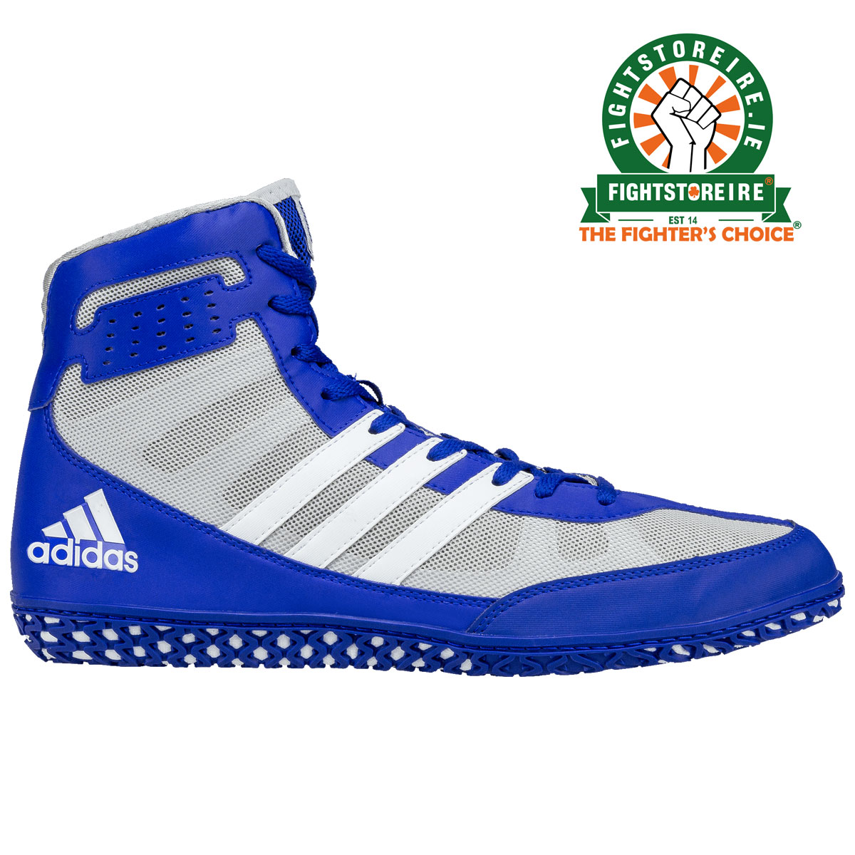 Adidas Mat Wizard 3 Wrestling Boots - Blue White - Fight Store IRELAND 5a3f134e5