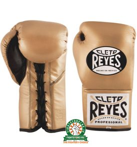 Cleto Reyes Official Boxing Gloves Gold