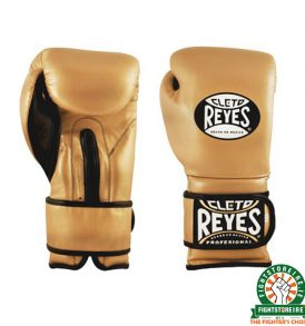 Cleto Reyes Velcro Sparring Gloves 16oz Gold