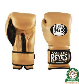 Cleto Reyes Velcro Sparring Gloves 16oz Gold