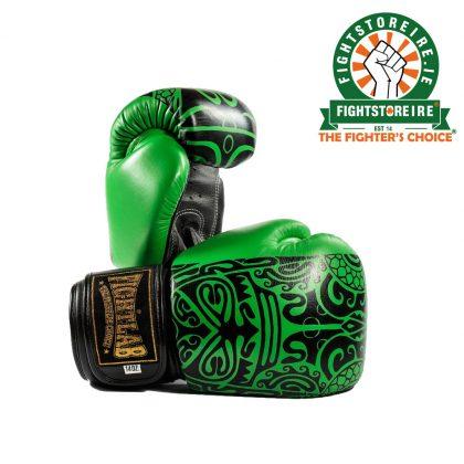 Fightlab Leather Maori Muay Thai Gloves - Green