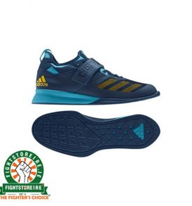 Adidas Crazy Power Weightlifting Shoes - Blue/Yellow