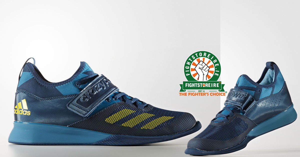 sports shoes 2a184 91cd2 Adidas Crazy Power Weightlifting Shoes - BlueYellow  Fightst