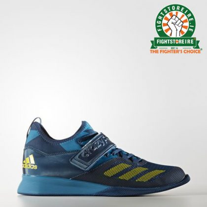 51c5b989660 Adidas Crazy Power Weightlifting Shoes - Blue Yellow