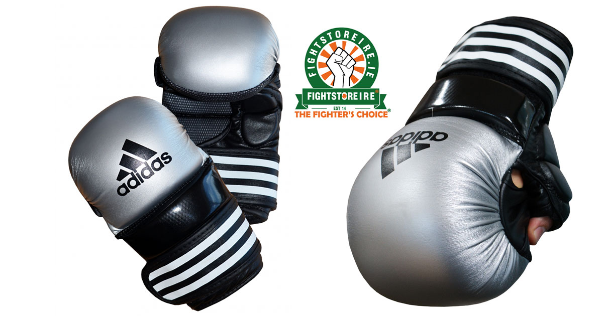 Adidas Mma Sparring Gloves Silver Black Fight Store