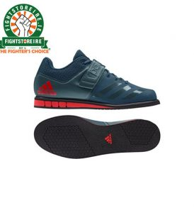Adidas Mens Powerlift 3.1 Weightlifting Shoes - Petrol Green/Red