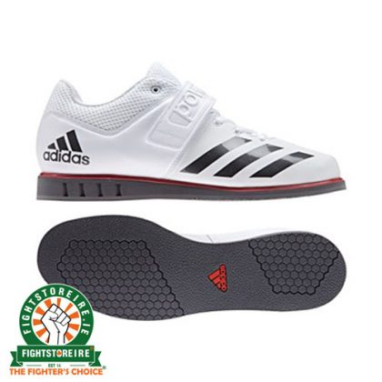 Adidas Mens Powerlift 3.1 Weightlifting Shoes - White/Grey