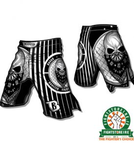 Booster Skull MMA Shorts - Black