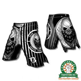 Booster Skull MMA Shorts - Black