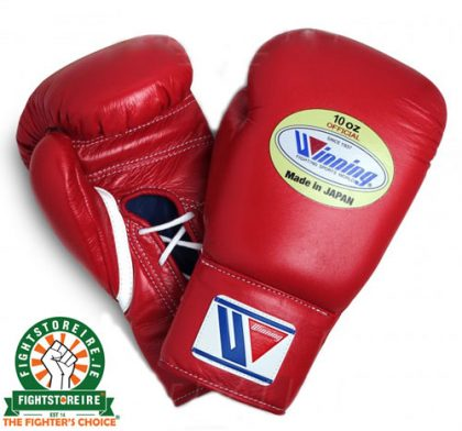 Winning 10oz Lace-Up Boxing Gloves - MS-300